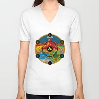 hyrule V-neck T-shirts featuring Hyrule Macrocosmica by Jude Buffum