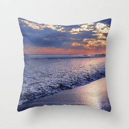 Peace of Mind Cayucos Beach Throw Pillow