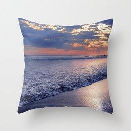 Peace of Mind Cayucos Beach Throw Pillow
