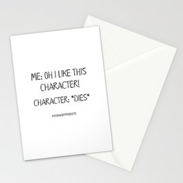 Bookworm Problems (Character Deaths) Stationery Cards