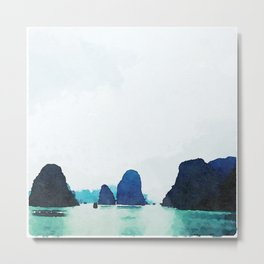 Twilight in Halong Bay Metal Print