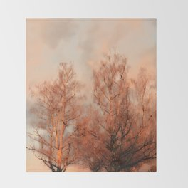 TREES AT SUNSET Throw Blanket