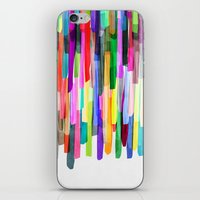 stripes iPhone & iPod Skins featuring Colorful Stripes 4 by Mareike Böhmer
