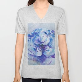 Blue rat Unisex V-Neck