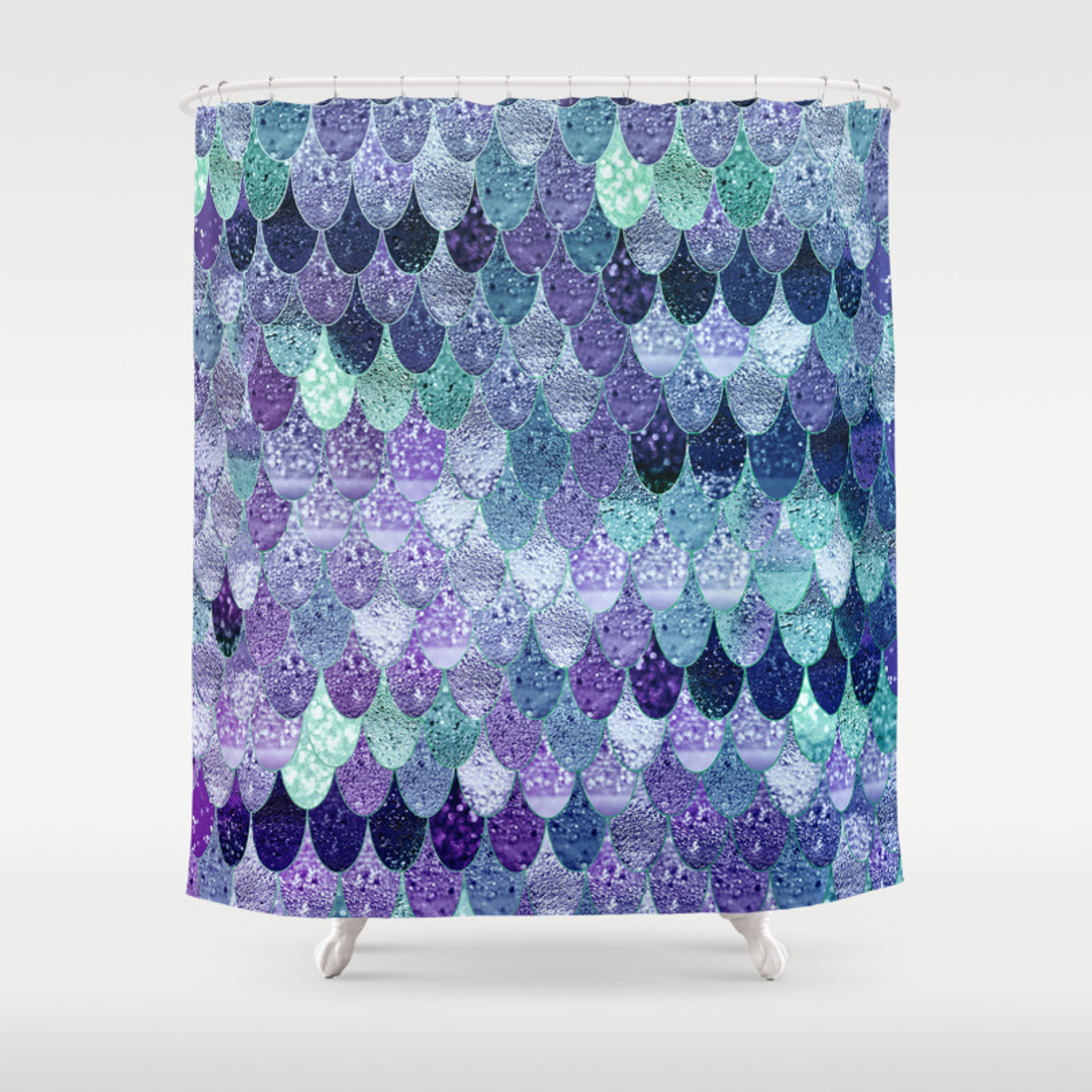 Fishscales Shower Curtains | Society6