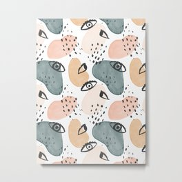 Painterly Eyes Pattern #society6 #buyart Metal Print