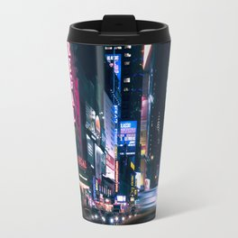 Neon Signs in New York, USA / Night City Series Travel Mug