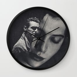 What Lingers  Wall Clock