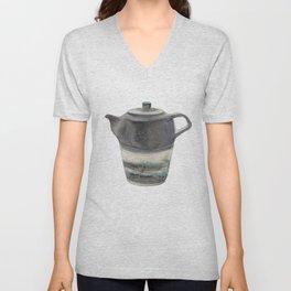 Japanese Teapot Unisex V-Neck
