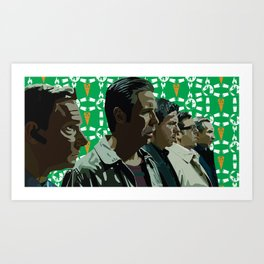 Just like the five musketeers Art Print