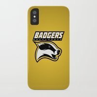 hufflepuff iPhone & iPod Cases featuring Badgers Hufflepuff  by Fresco Umbiatore