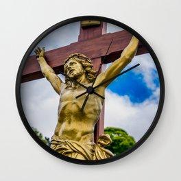 Crucifixion of Jesus Wall Clock
