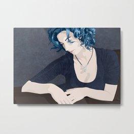 Blue solitude, sitting pretty. Metal Print