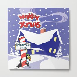 Christmas in North Pole Metal Print