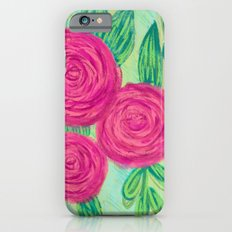Roses painting chalk Slim Case iPhone 6s