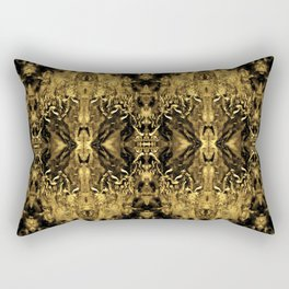 Beautiful Gold Brown  Traditional Pattern Rectangular Pillow