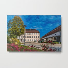 Schloss Grosslaupheim mit Kulturhaus Metal Print