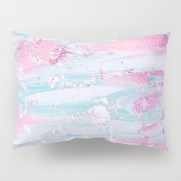 Shine Shimmer Pastel Pink and Blue Modern Pillow Sham