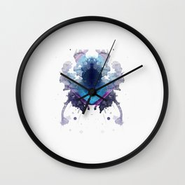 Inknograph XVIII - Rorschach Art Wall Clock