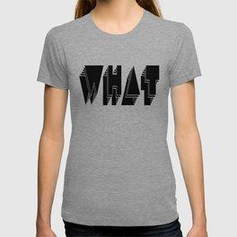 WHAT: Black T-shirt