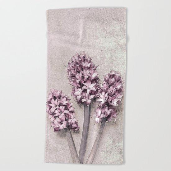 Delicate Hyacinths Beach Towel