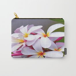 WHITE FRANGIPANI Carry-All Pouch