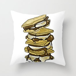 Stack of S'mores Throw Pillow