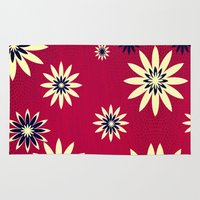 daisies Area & Throw Rugs featuring Daisies by Armin