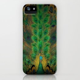 """Emerald and black peacock"" iPhone Case"