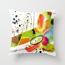 Abstract Serenade 4a by Kathy Morton Stanion Throw Pillow