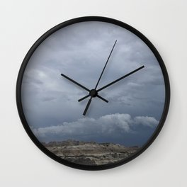 Storm over the Badlands Wall Clock