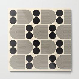 Abstraction_NEW_SUN_BLACK_LINE_POP_ART_0399B Metal Print