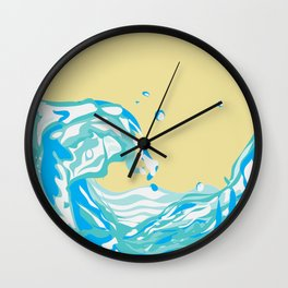 water pour Wall Clock