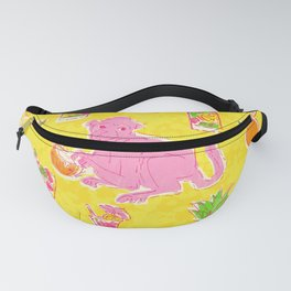 Cocktail Monkey large yellow Fanny Pack