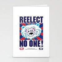 politics Stationery Cards featuring Polar Bear Politics by Clore Concepts Chucks Stuff