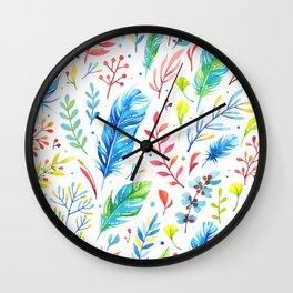 Boho Chic White by Mimi Bondi Wall Clock