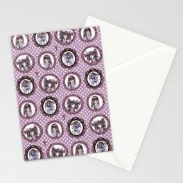 Masquerade cameo girls Stationery Cards