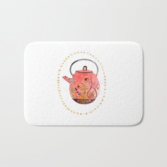 teapot terrarium Bath Mat