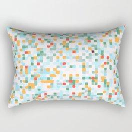 handmade coloured squares Rectangular Pillow