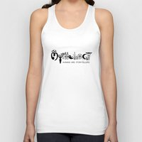 mythology Tank Tops featuring Mythology - Humans are Storytellers  by David Long