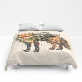 The Fox Nature Surrealism Comforters