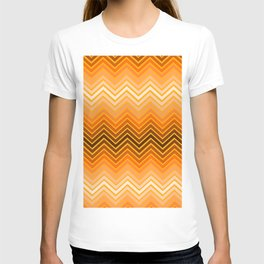 Orange chevron T-shirt