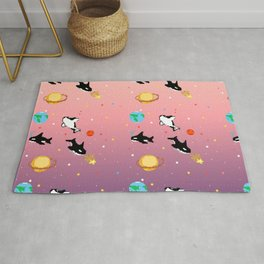 Deep Sea Space Pink/Purple Rug