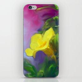 The Yellow Mandevilla Flower 2 iPhone Skin