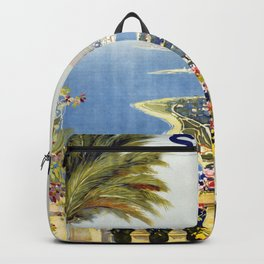 San Remo - Italy Vintage Travel Poster 1920 Backpack