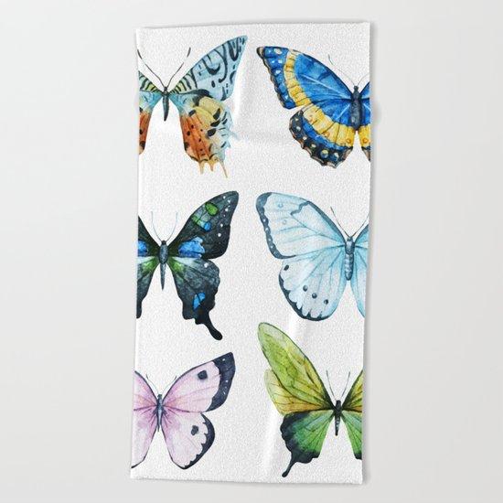 Butterflies 02 Beach Towel