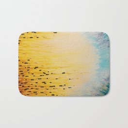 MYSTIC GARDEN Lovely Fairy Land Abstract Painting Acrylic Fine Art Winter Colorful Fantasy Magical Bath Mat