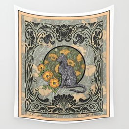 Cat Nouveau Wall Tapestry