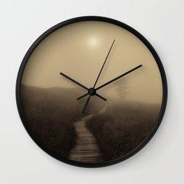 Boardwalk Sunrise Wall Clock