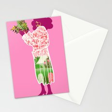 Floral Coat Pink Stationery Cards